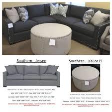 King Hickory Sofa Quality by Southern Furniture Jesse Sectional And Kai Ottoman Jesse