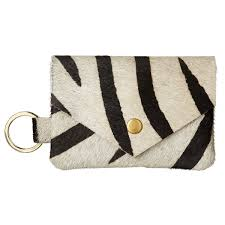 Bristow Black White ZebraPrint Wallet With Keyring OKA Europe