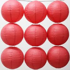 10pcs Lot 12 Inch 30cm Japanese Round Paper Hanging Lampion For Birthday Event Party Decor Red Lantern Ball In Lanterns From Home Garden On
