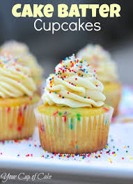 Cake Batter Cupcakes Your Cup of Cake