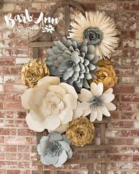 Large Paper Flower Wall Decor For Nursery Weddings Bridal