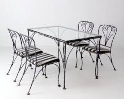Salterini Iron Patio Furniture by Vintage Wrought Iron Patio Furniture Etsy