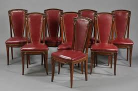 Set Of Eight French, Art Nouveau Period Tall-back Dining Chairs ... Set Of 8 Vintage Midcentury Art Nouveau Style Boho Chic Italian Stunning Of Six Inlaid Mahogany High Back Chairs 2 Pair In Antiques Atlas Lhcy Solid Wood Ding Chair Armchair Lounge Nordic Style A Oak Set With Table Seven Chairs And A Side Ding Suite Extension Table France Side In Leather Chairish Gauthierpoinsignon French By Gauthier Louis Majorelle Caned An Edouard Diot Art Nouveau Walnut And Brass Ding Table Four 1930s American Classical Shieldback 4