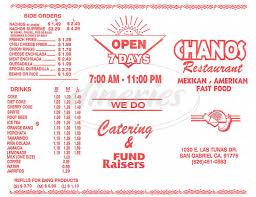 chanos restaurant menu san gabriel dineries