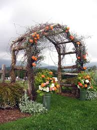 Rustic Wooden Arbor For Country Wedding
