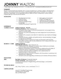 Software Engineer Resume Remote Computers Technology Contemporary Amazing Samples India Examples 2017 Full