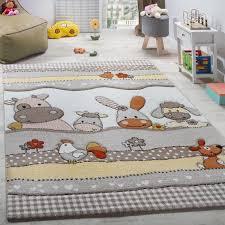 tapis pour enfants chambre d enfant animaux de la ferme beige ø 120