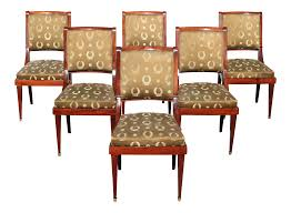 1910s Vintage French Empire Solid Mahogany Dining Chairs - Set Of 6 Empire Ding Chair Duncan Phyfe Room Chairs 1 Style Ding Chair From Our Exclusive Empire Collection Pr Mid 19th C Gondola Chairs Signoret Amazoncom Inland Fniture Madalena 7 Pc Formal Outdoor Wicker Bistro Cork Empire Classic Fniture Side Espresso Set Of 2 A Set Eight Maison Jansen Giltbronze Mounted Mahogany 1949 45 Masterpiece Collection
