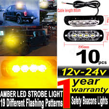 10x 12/24V 4LED Yellow Strobe Flashing Light Emergency Hazard Truck ... 66w 6 Led Safety Emergency Vehicle Front Grill Strobe Light Bar 12v And Inc Umbrella New Personal Lights Blue Forklift Truck Safety Spotlight Warning Light Factory Can Civilians Use In Private Vehicles Apparatus 15 Inch Traffic Led Warning Lightbar Truck Flashing Lin4 Wicked Warnings Dawson Public Power District The Anatomy Of A Maintenance Truck 2016 Gmc Sierrea Lights Wwwwickedwarningscom Free Images White Transport Red Equipment Metal Fire