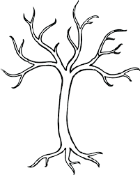 Tree Trunk Fall Trees Coloring Pages Free Clipart Images