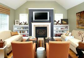 Accent Tv Wall Ideas Family Room Traditional With Garden Stool Black