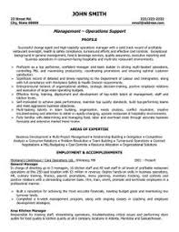 A Resume Template For General Manager You Can Download It And Make Your