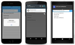 Sending Push Notifications from Azure Mobile Apps Xamarin