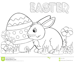 Easter Bunny Coloring Page Royalty Free Stock Photo Download Pictures