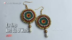 How To Make Earrings From Waste Material