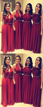 Mixed Style Chiffon Floor Length Bridesmaid Dresses For Wedding Party