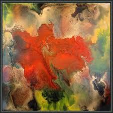 Hand Painted Mixed Media Abstract Feelings Eruption By Julia Apostolova