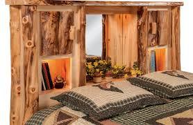 Spindle Headboard And Footboard by Bedroom Dutchman Log Furniture