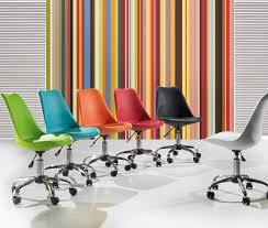 roue de chaise de bureau chaise de bureau design à roulettes colorée kriakao bureaux