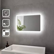 badspiegel mit led beleuchtung spiegel kaltweiß energiesparend led badezimmer wandspiegel badezimmerspiegel
