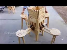 incredible folding picnic table opens in seconds youtube