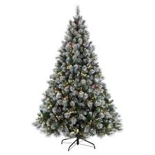 Pre Lit Incandescent Fiber Optic Winter Wonderland Artificial Christmas Tree