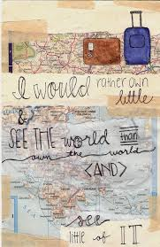 Travel World And Quote Image