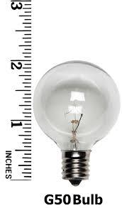 g50 c7 base clear globe light bulbs 25 regular incandescent