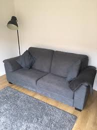 ikea tidafors sofas with matching footstool in grey in worsley