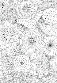 Flowering Coloring Pages Adult Flower Advanced 2 For Adults