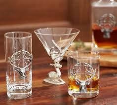 Stag Double Old Fashioned Glass Set 2