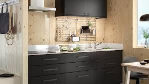 schwarze küche in modernem stil ikea deutschland