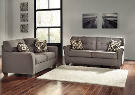 Furniture World Petal MS Tibbee Slate Sofa and Loveseat