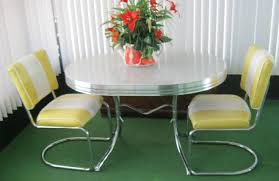 Yellow Kitchen Table And Chairs Retro Video Photos Interior Designing Home