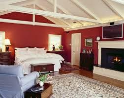 wunderschöne schlafzimmer in rot und weiß dekoration diy