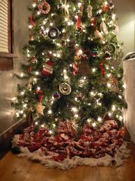 This Blanket Does The Job Of A Real Tree Skirt Just As Well Store Bought One You Could Also Use Sheet Sheepskin Small Rug Spare Fabric