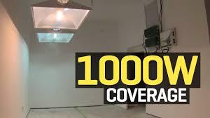 1000 Watt Hps Bulb And Ballast by How Much Area Does A 1000 Watt Hid Grow Light Really Cover Youtube