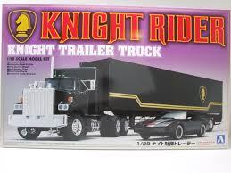 Knight Rider Trailer Truck, Bausatz, Modellauto 1:28 / Aoshima, 54,95 €