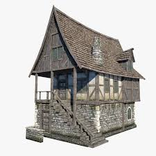 Low Poly Wild West Buildings2 3D Model CGTrader