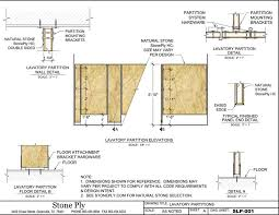 Floor Mounted Lavatory Partition Mounting Details