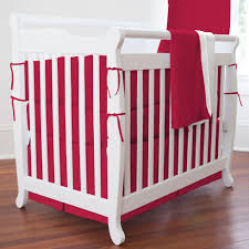 Bedding For Portable Crib Gallery 1 Solid Red Mini Crib Bedding