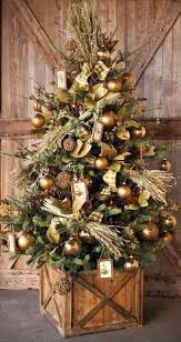 Surprising Rustic Christmas Tree Decorations 24 For Your Home Remodel Ideas With