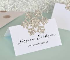 Snowflake Place Cards Gift Tags DIY Winter