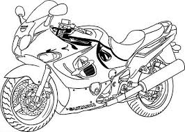 32 Motorcycle Coloring Pages Transportation Printable