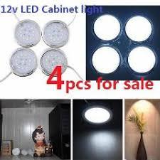 4x 12v dc led dome light silver shell1 8w cabinet light