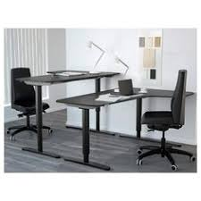 bekant corner desk left black brown white desks office spaces