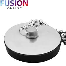Rubber Sink Stopper With Chain by Premium Bath U0026 Sink Drain Plug 45mm Basin Black Rubber Metal Cap