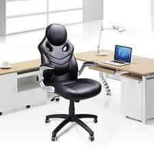bureau ergonomique r lable en hauteur songmics chaise de bureau accotoir pliable fauteuil de bureau