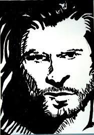 Chris Hemsworth Thor Black And White Drawing by dimitardikov on