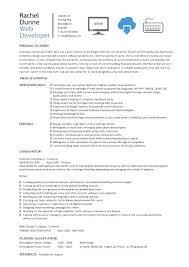 Web Designer Front End Developer Resume Example For It Full – inssite